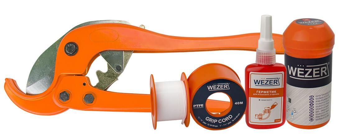 Новинки! Уплотнительные ленты, нити, анаэробные герметики и ножницы для труб Wezer
