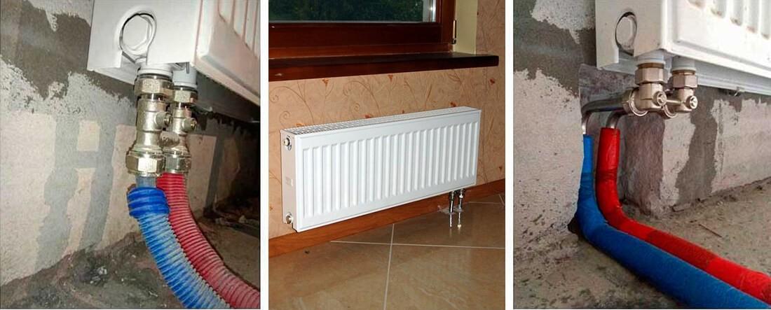 Преимущества нижнего подключения стальных радиаторов - Полезная статья