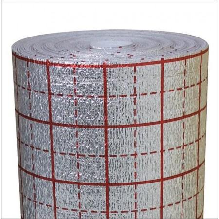 Полотно ламинированное металлизированой пленкой с разметкой, 1.5мм 100м