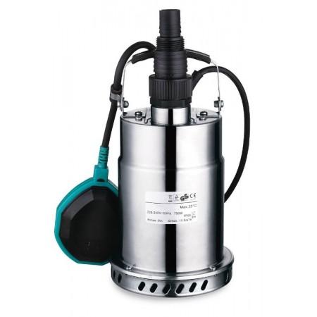 Насос Aquatica дренажный 773112.  0.75кВт Hmax 9м Qmax 192л/мин (нержавейка).