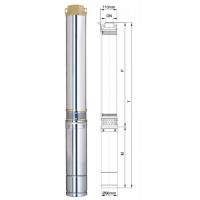 Насос Aquatica скважинный 777153. Насос центробежный 1.5кВт H 77(43)м Q 180(140)л/мин Ø96мм.