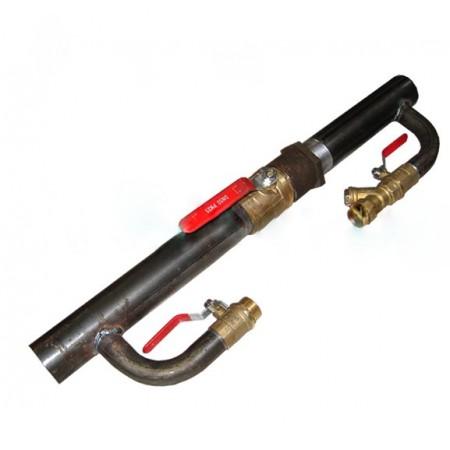 Байпас 40  1 1/2'' с краном длинный 330 мм