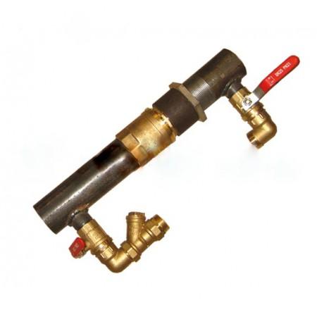 Байпас 50 2'' с латунным клапаном короткий 140 мм