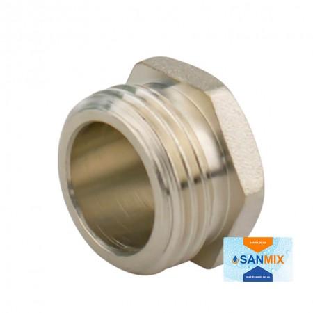 Заглушка латунная с наружной резьбой 1/2 KARRO никелированная