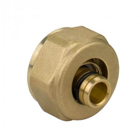 Евроконус латунный с резиновым уплотнителем 16х2х3/4 Wezer