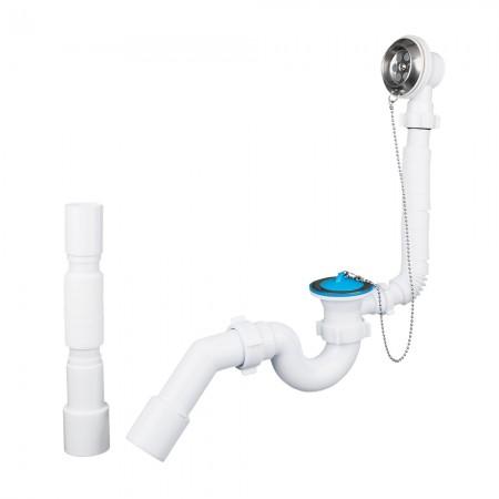 Сифон для ванны с выпуском, переливом и переходной трубой АНИ-пласт Е156