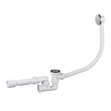 Сифон для ванны регулируемый с выпуском, переливом, клик-клак АНИ-пласт ЕС255