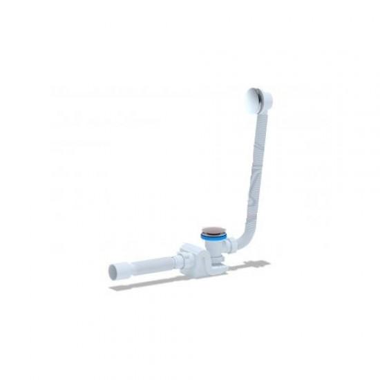 Сифон для ванны с переливом, гибкой трубой клик-клак АНИ-пласт ЕС656G