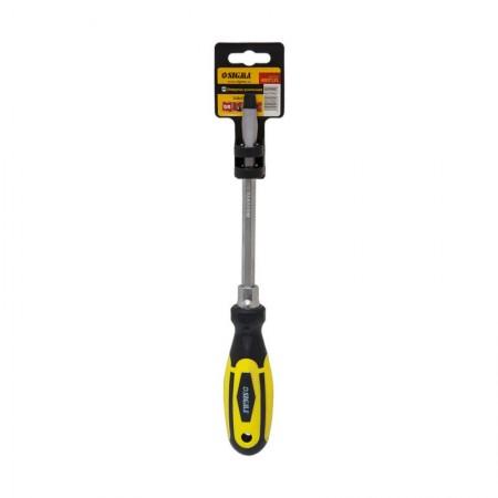 Отвертка усиленная шлицевая SL8x150мм под ключ CrV Sigma (4007131)