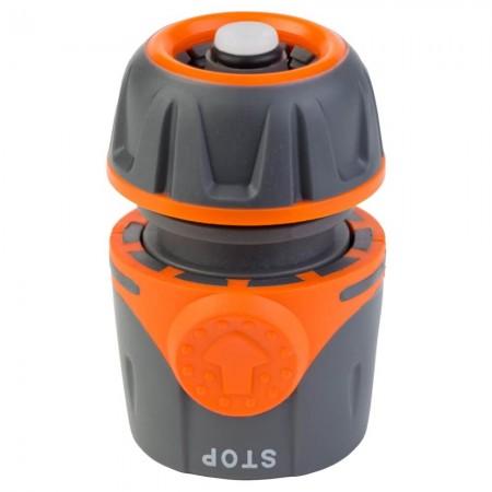 """Коннектор ½"""" быстросъёмный для шланга ½"""" AquaStop Flora (5015494)"""