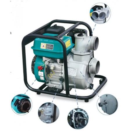 Мотопомпа Aquatica 772515. 6,5л.с. Hmax 30м Qmax 60м³/ч (4-ѐх тактный).