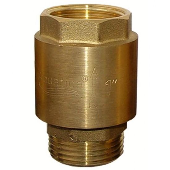 """Клапан Aquatica 779645. Клапан обратный 1""""Mx1""""F (латунь)."""