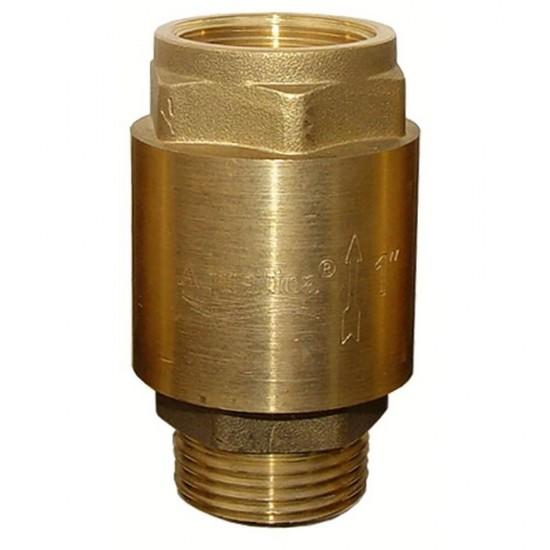 """Клапан Aquatica 779655. Клапан обратный 1""""Mx1""""F (латунь) euro."""