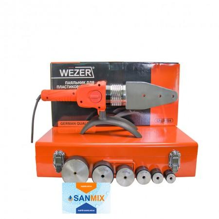 Паяльник плоский для пластиковых труб Wezer CF63-15A 20-63 2 кВт
