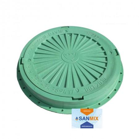 Люк дачный полимерный 500 кг зеленый Сезим