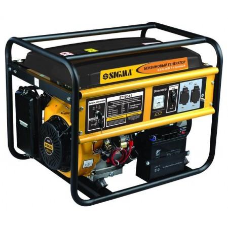 Генератор бензиновый Sigma 5710341. 6.0/6.5 кВт 4-х тактный,  электрозапуск.