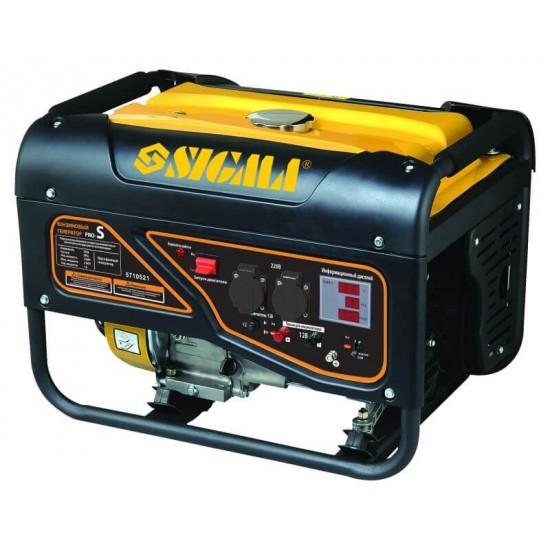 Генератор бензиновый Sigma 5710521. 2.5/2.8кВт 4-х тактный, ручной запуск Pro-S.