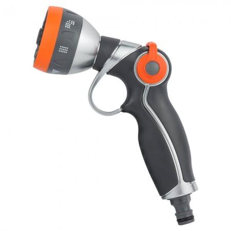 Пистолет распылитель 7-ми режимный курок плавающий (AL+TPR) Flora (5011394)