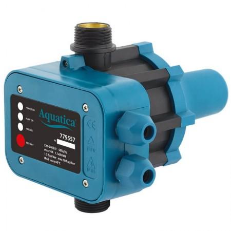 """Контроллер давления электронный 1.1кВт Ø1"""" авт поиск воды Aquatica (779557)"""