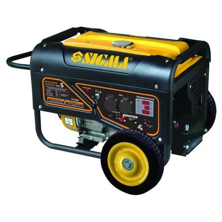 Генератор бензиновый Sigma 5710621. 5.0/5.5 кВт 4-х тактный, электрозапуск Pro-S.