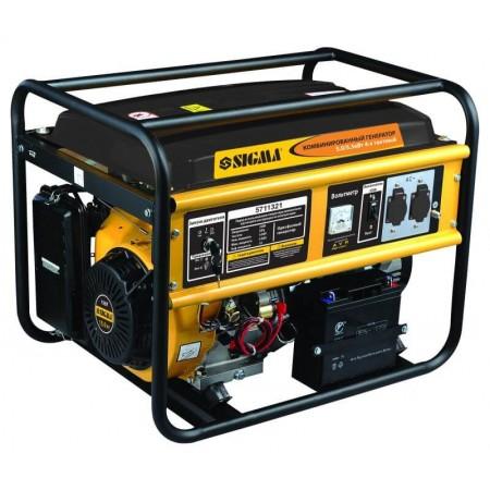 Генератор  газо-бензиновый Sigma 5711321. 5.0/5.5 кВт 4-х тактный, электрозапуск.