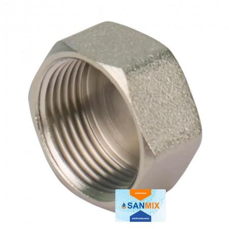 Заглушка латунная с внутренней резьбой 1/2 KARRO никелированная