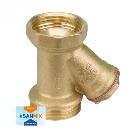 Латунный фильтр грубой очистки воды 1 дюйм STA ВН для байпаса