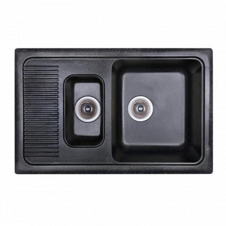 Fosto Кухонная мойка 77x49 SGA-420 (черный)