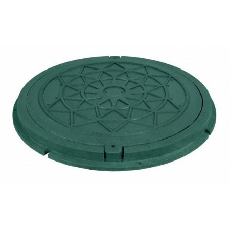 Люк садовый, круглый, зеленый, нагрузка 1т Ruslana.
