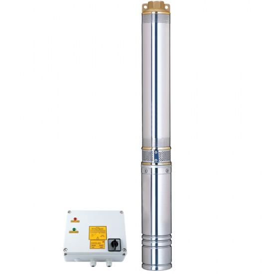 Насос скважинный центробежный 380В 4.0кВт H 95(60)м Q 380(265)л/мин Ø102мм Aquatica (DONGYIN) (7771863)