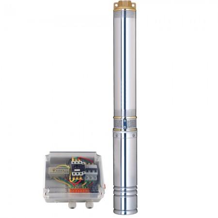 Насос скважинный центробежный 380В 7.5кВт H 143(85)м Q 380(265)л/мин Ø102мм Aquatica (DONGYIN) (7771883)