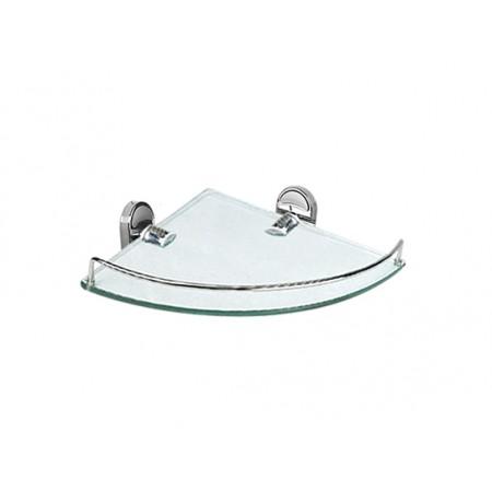 Стеклянная полочка для ванной угловая Potato P2921-1.