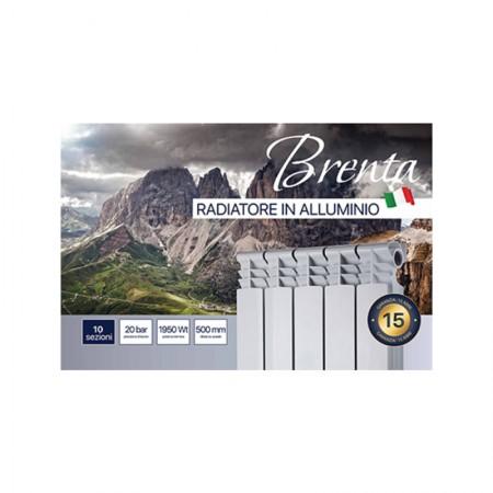 Радиатор алюминиевый Brenta 500х80