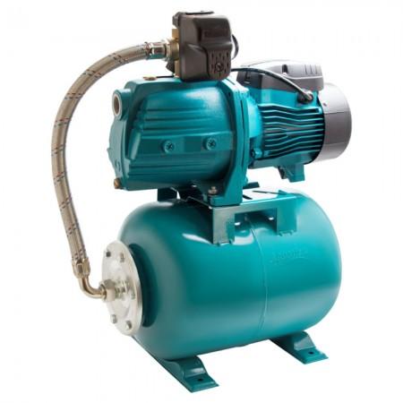 Станция водоснабжения 0.75кВт Hmax 40м Qmax 85л/мин (самовсасывающий насос) 24л Leo (775384/24)