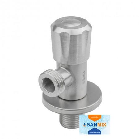 Кран приборный угловой 1/2 KARRO KR-3131S из нержавеющей стали