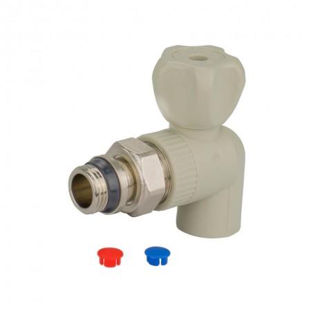 Кран радиаторный 20 мм шаровый угловой ITAL c антипротечной прокладкой