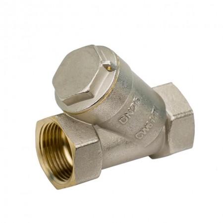 Латунный фильтр трубой очистки Wezer 3/4 никелированный