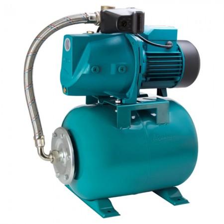 Станция водоснабжения 0.75кВт Hmax 46м Qmax 90л/мин (самовсасывающий насос) 24л Leo (775323/24)