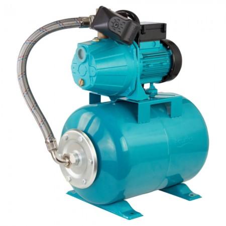 Станция водоснабжения 0.8кВт Hmax 40м Qmax 60л/мин (самовсасывающий насос) 24л Leo (775342/24)