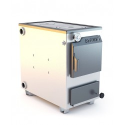 Котел Буржуй КП-18 кВт с чугунной плитой и дымоходом 150 мм вверх