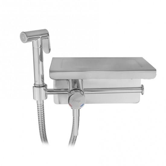 Гигиенический душ Frap F7516 с полкой и бумагодержателем