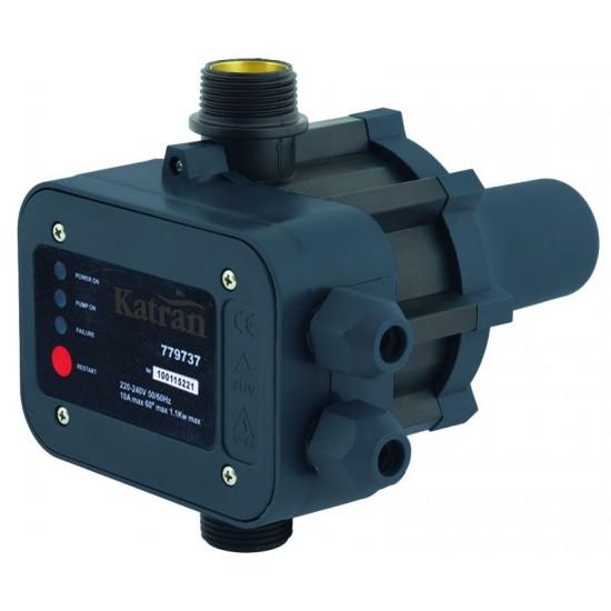 Контроллер давления электронный Katran 779755, 1.1кВт Ø1 + рег. давл. вкл 1.5-3.0 bar