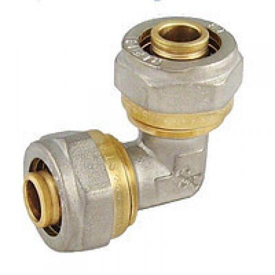 Колено для металлопластиковой трубы Sanlux 16*16