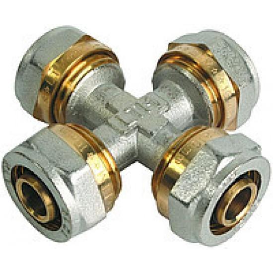 Крестовина для металлопластиковой трубы Sanlux 20х20х20х20