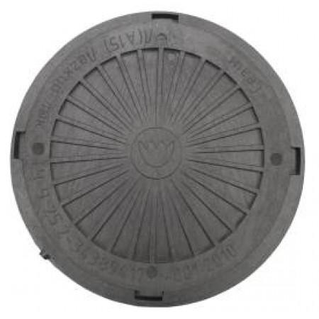 Люк смотровых колодцев полимерный черный, нагрузка 3 тонны