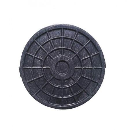 Люк малый полимерный круглый черный