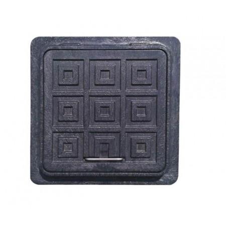 Люк полимерный квадратный черный