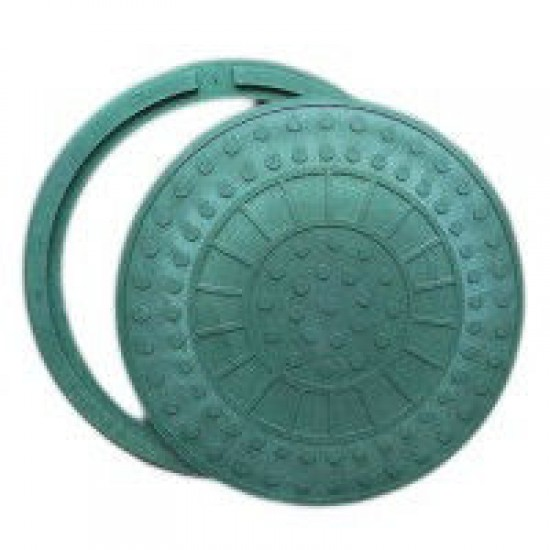 Люк Інсталпласт-ХВ легкий, полимерпесчаный зелёный.