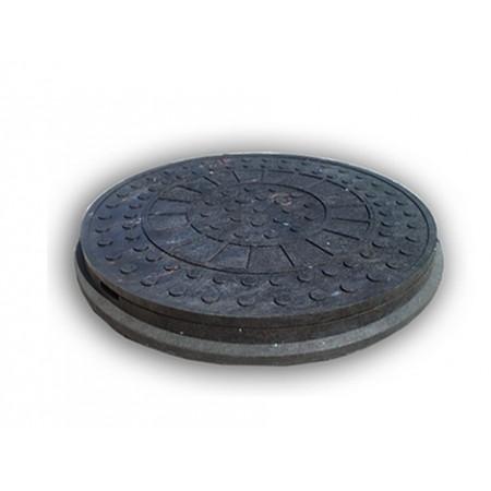 Люк Інсталпласт-ХВ легкий, полимерпесчаный черный.