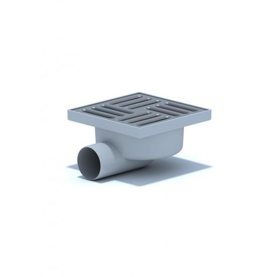 Трап с пластиковой решеткой нерегулируемый горизонтальный АНИ-пласт TA5104